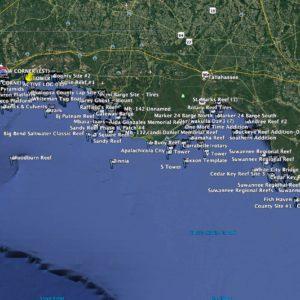 Northwest Florida Reef Coordinates